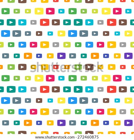Vector Funky Colorful Seamless Pattern Random Stock Vector Royalty