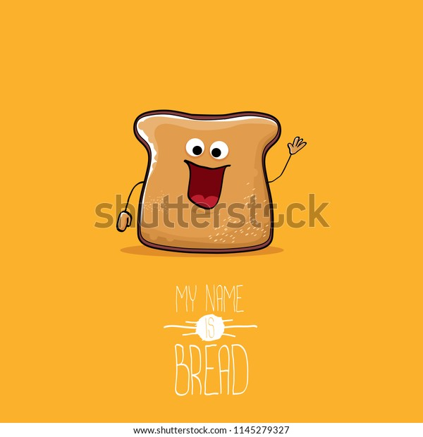 Vector Funny Cartoon Cute Sliced Bread Stock Vector (Royalty