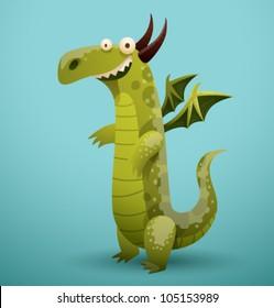 Vector Funny Dragon 1