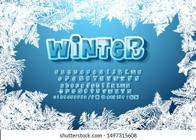 Vector Funny Handwritten Christmas Font Alphabet with hashtag symbol. Cute cartoon style font typeface for Christmas and New Year design. Font for sign logos, gift cards, hash tag.