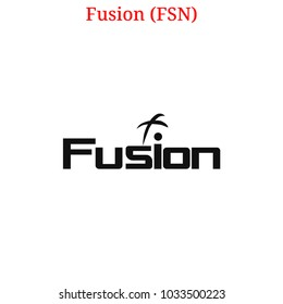 Vector Fusion (FSN) digital cryptocurrency logo. Fusion (FSN) icon. Vector illustration isolated on white background.