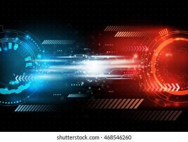 Vector futuristic background, Shiny vector illustration. Abstract speed concept with particles.