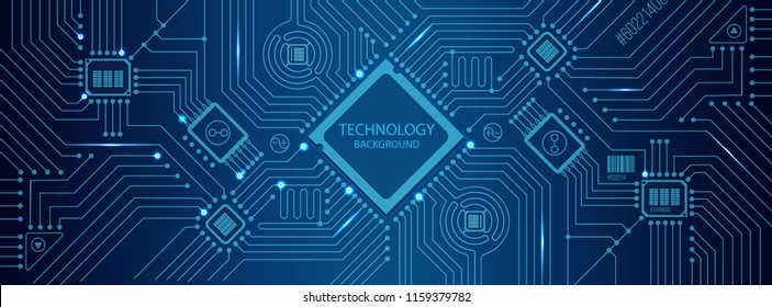 vector futuristic circuit board , Electronic motherboard , Communication and engineering concept , Hi-tech digital technology concept