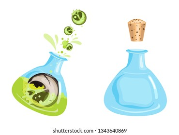Vector game magic potion, great design for any purposes. Isolated vector sign symbol. Vector design concept.