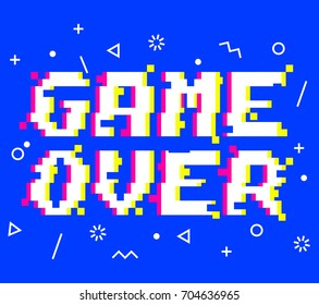 Game Over Images, Stock Photos & Vectors | Shutterstock