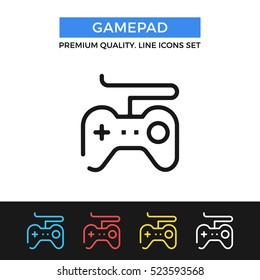 Vector gamepad icon. Game controller concept. Premium quality graphic design. Modern signs, outline symbols collection, simple thin line icons set for websites, web design, mobile app, infographics