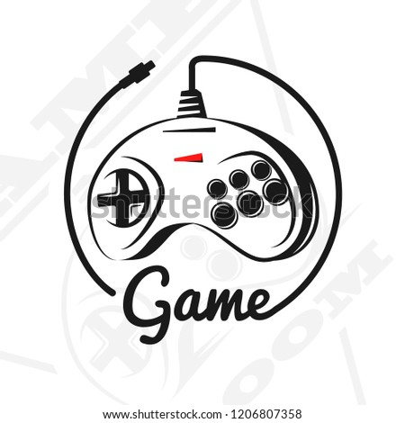 Vector Gamepad Logo Game Design Old Stock Vector Royalty Free