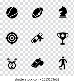 vector gaming icons set. video games and sport illustrations - entertainment sign symbols
