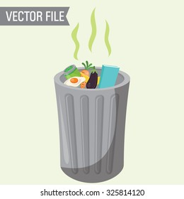 Vector Garbage Can