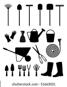 Vector garden tools