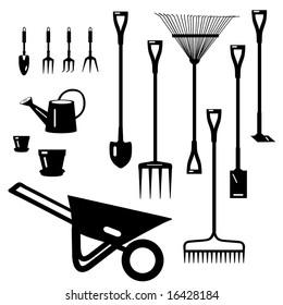 Vector Garden Tools Collection is original artwork.