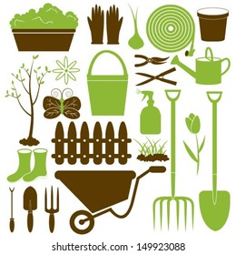 Vector Gardening Icons Collection