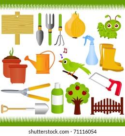 Cartoon Garden Tools Images Stock Photos Vectors Shutterstock