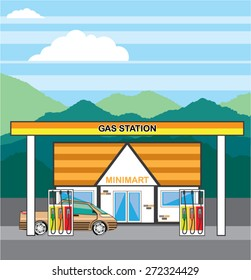Vector Gas Station
