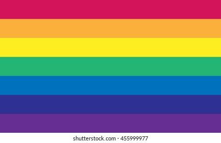 Vector gay flag. Gay pride flag. Flag of gay love.