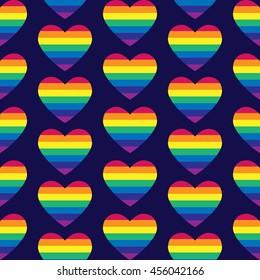 Vector gay seamless pattern. Gay pride seamless pattern. Seamless patternof gay love.