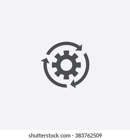 Vector gear reload Icon