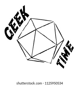 Vector Geek time illustration