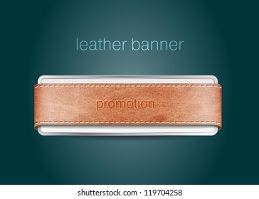 Vector genuine leather / suede textured banner