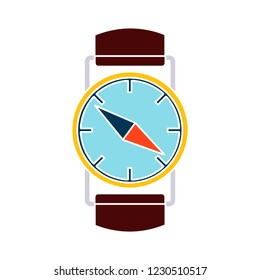 vector geography compass isolated icon - adventure watch illustration sign . longitude navigation sign symbol