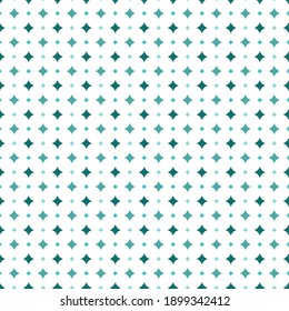 Vector geomemric seamless pattern. Green diamonds and white abstraction ovals.
