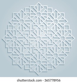 Vector geometric arabic pattern