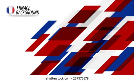 Vector geometric background in france flag concept