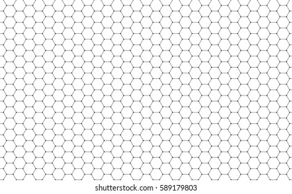 Vector Geometric background with Hexagons. Black and white geometric background.