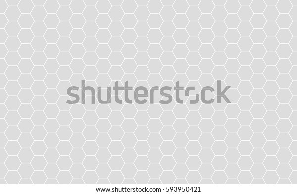 Vector Geometric background with Hexagons. Grey geometric background.