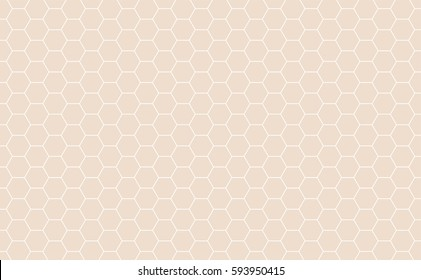 Vector Geometric background with Hexagons. Light orange geometric background.