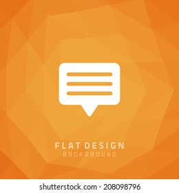 Vector geometric background and icon flat style