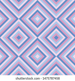 Vector geometric background of squares. Abstract seamless universal purple and blue pattern for design.