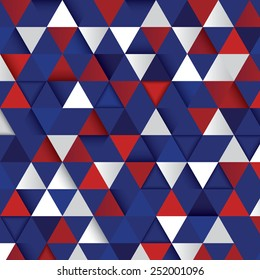 Vector geometric background from triangles in color of an Independence Day
