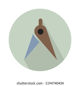 vector geometric compass, drawing illustration - architect drafting tool