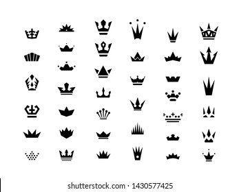 Vector geometric crown pack for your business brand identity design