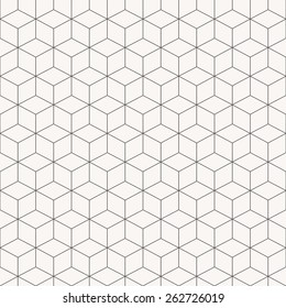 Vector geometric cubes pattern, seamless background