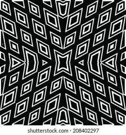 Vector geometric ethnic pattern  whit diamond texture (seamlessly tiling). Seamless pattern can be used for wallpaper, pattern fills, web page background,surface textures. seamless background