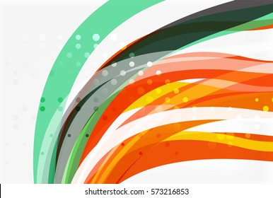 Vector geometric flowing lines abstract background. Vector template background for workflow layout, diagram, number options or web design