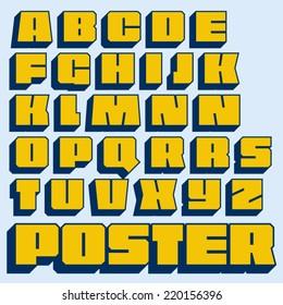 Vector geometric font.