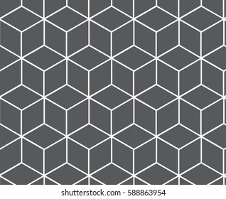 Vector geometric grey cubes pattern background