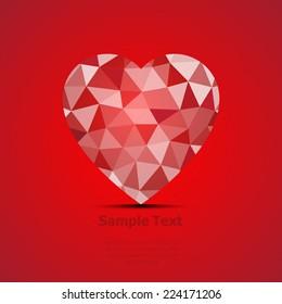 vector geometric heart