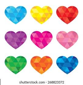 Vector geometric heart set
