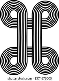 Vector geometric logo template