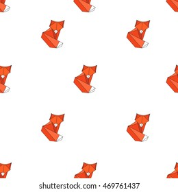 Vector geometric origami fox pattern