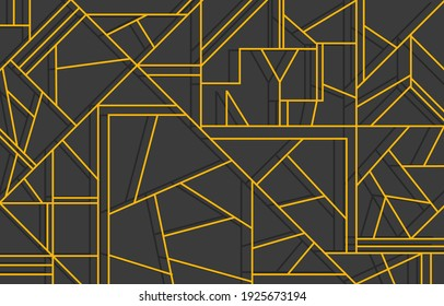 Vector geometric pattern with lines. Modern stylish texture. Repeating geometric background with linear random