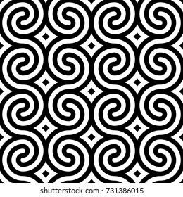 Vector geometric pattern. Seamless braided linear pattern.