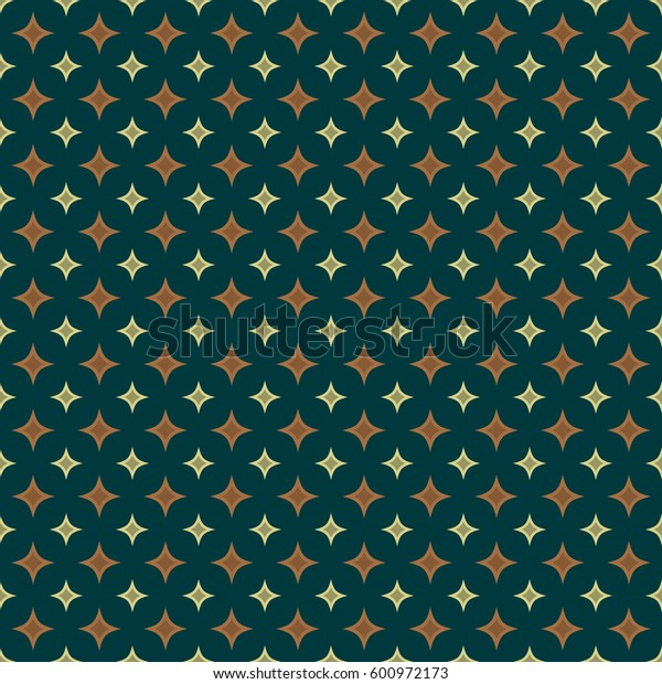 Vector geometric rhombus seamless pattern. Color vintage texture.