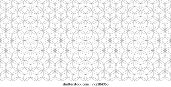 Vector geometric seamless pattern, background from circles, forming flowers