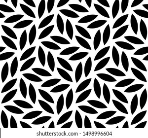 Vector geometric seamless pattern. Modern stylish floral background with leaves.