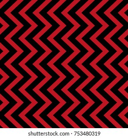 Vector geometric seamless pattern. Red and black triangle texture
